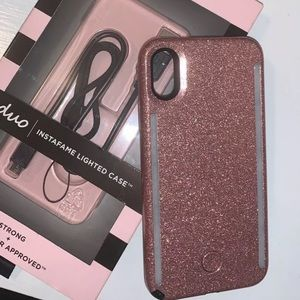 iPhone X/Xs lumee pink glitter case